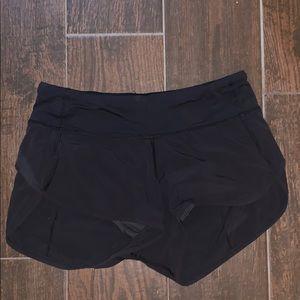 """Lulu lemon shorts - black speed up 2.5"""""""